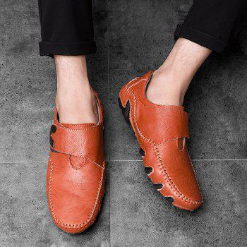 Nouvelles lignes de cuir Octopus Bottom of Casual Shoes - Brun rouge 42