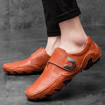 Nouvelles lignes de cuir Octopus Bottom of Casual Shoes - Brun rouge 40