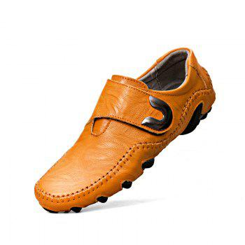 New Leather Octopus Lines Bottom of Casual Shoes - YELLOW BROWN 46