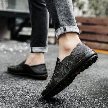 New Leather Tree Peas Shoes - BLACK 39