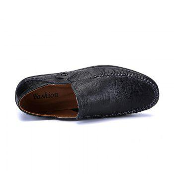 New Leather Tree Peas Shoes - BLACK 40