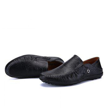 New Leather Tree Peas Shoes - BLACK 38