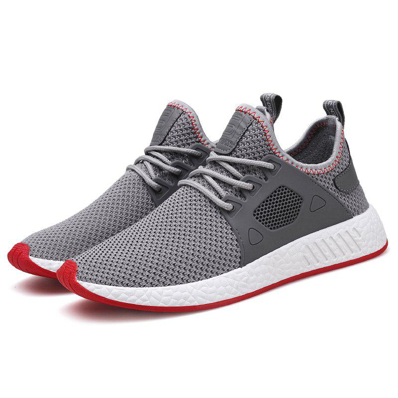New Mesh Flying Fabric Casual Shoes - GRAY 43