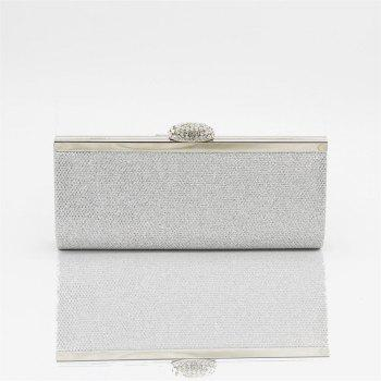 Women Bags pu Evening Bag for Event Party Silver Golden - SILVER SILVER