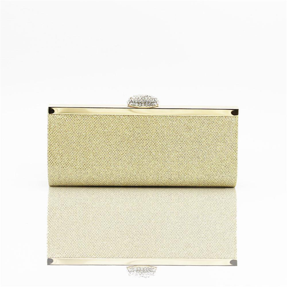 Women Bags pu Evening Bag for Event Party Silver Golden - GOLD