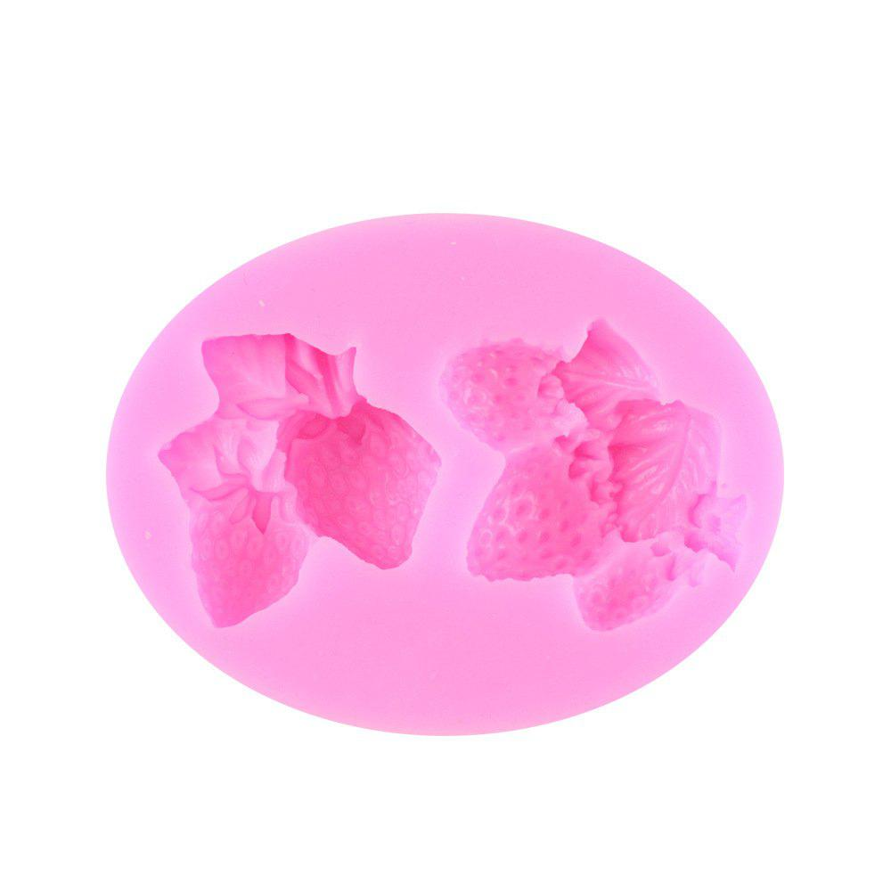 Strawberry Silicone Cake Mold Fondant Mold - PINK