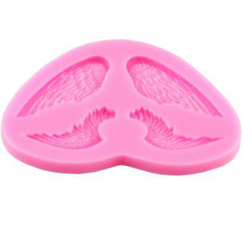 Angel Wing Wings Liquid Silicone Fondant Mold - PINK