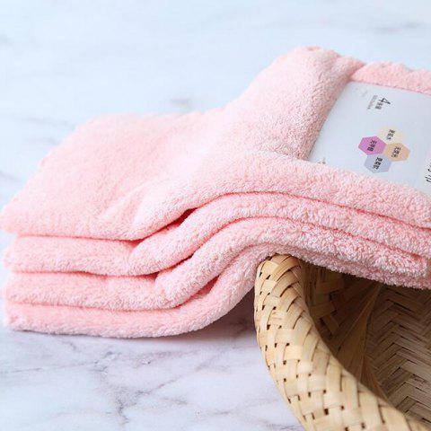 4 Pcs Face Towels Thickened Soft Water Absorption Baby Face Towels - PINK 25CM X 25CM