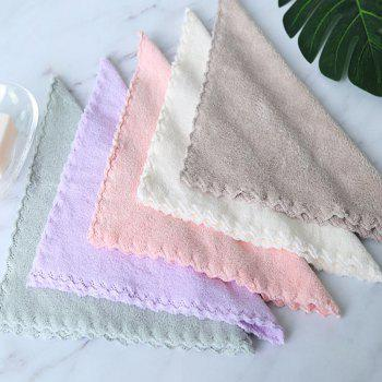4 Pcs Face Towels Thickened Soft Water Absorption Baby Face Towels - PINK PINK