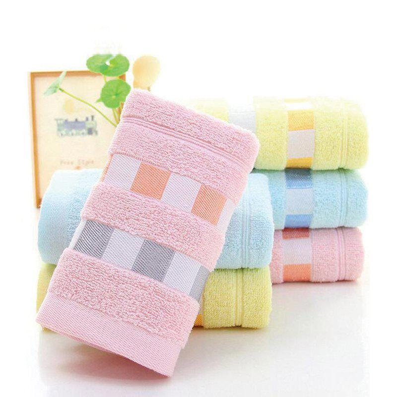 3 Pcs Face Towels Set Modern Fresh Color Plaids Pattern Soft Towels - multicolor 31CM X 70CM