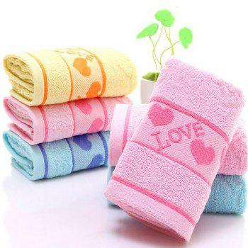3 Pcs Home Washing Towels Set Modern Sweet Hearts Pattern Supple Face Towels - MULTI multicolor