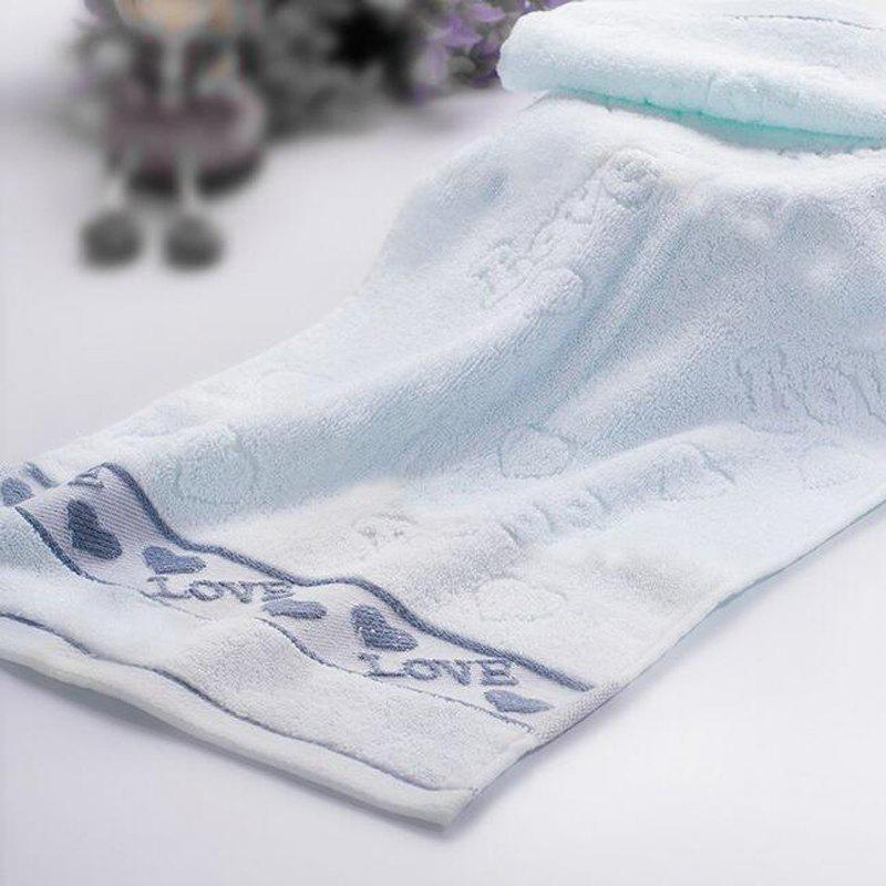 3 Pcs Home Washing Towels Set Modern Sweet Hearts Pattern Supple Face Towels - multicolor 33CM X 74CM