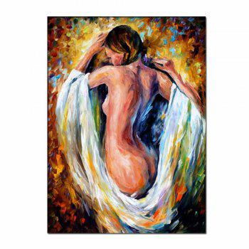 Hand Painted Abstract Palette Knife Oil Pianting Sexy Nude Woman Wall Picture Room Wall Decoration No Framed - COLORMIX COLORMIX