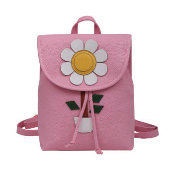 Girl s Backpack Flower Decoration School Bag