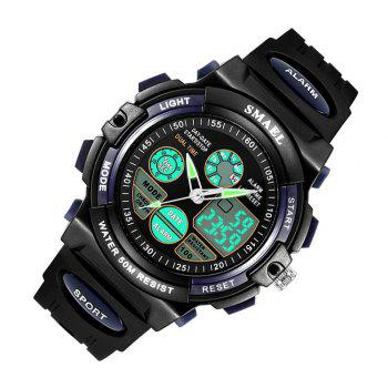 SMAEL SL0508 Multi-Function Smart Waterproof Electronic LED Sport Watch - DARK BLUE