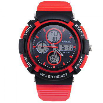 SMAEL 1310 Fashion Multi-Function Waterproof Sport LED Watch for Teenagers - RED RED