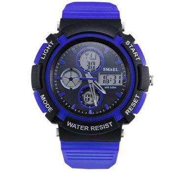SMAEL 1310 Fashion Multi-Function Waterproof Sport LED Watch for Teenagers - BLUE BLUE