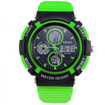 SMAEL 1310 Fashion Multi-Function Waterproof Sport LED Watch for Teenagers - GREEN GREEN
