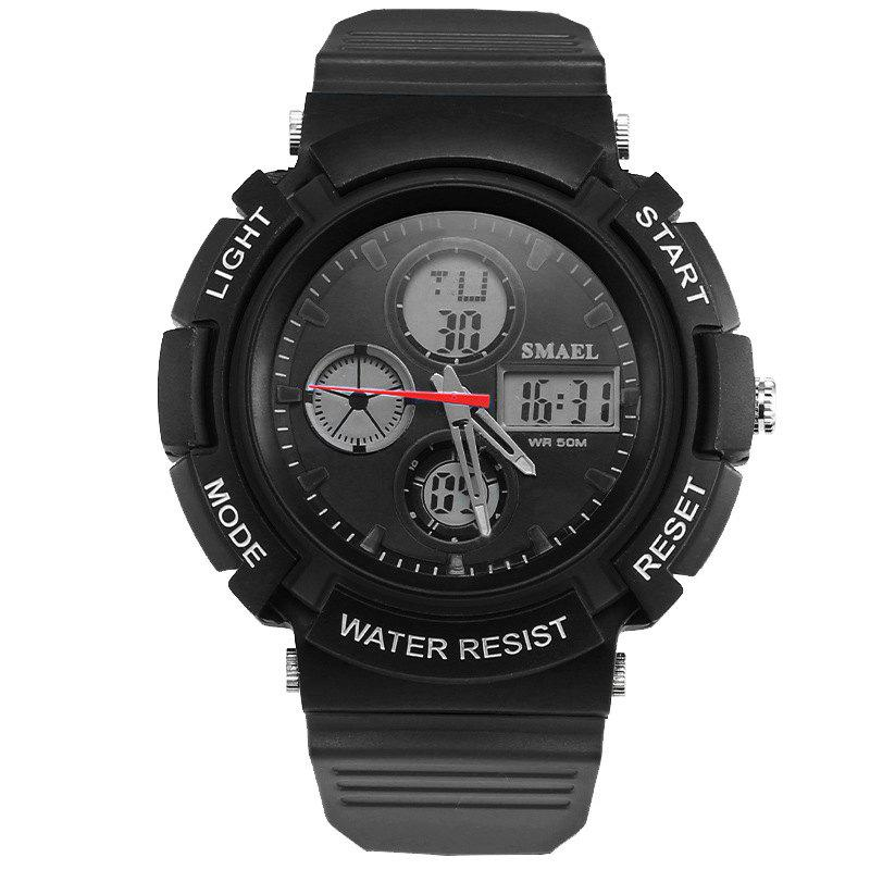 SMAEL 1310 Fashion Multi-Function Waterproof Sport LED Watch for Teenagers - BLACK
