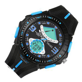 SMAEL 1315 Fashion Multi-function Electronic Sport LED Watch - BLACK/BLUE