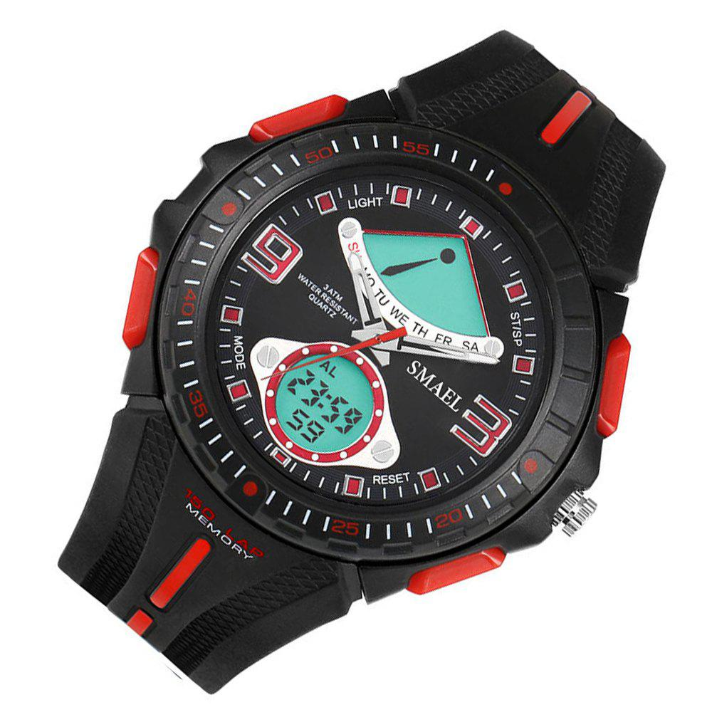 SMAEL 1315 Fashion Multi-function Electronic Sport LED Watch - RED