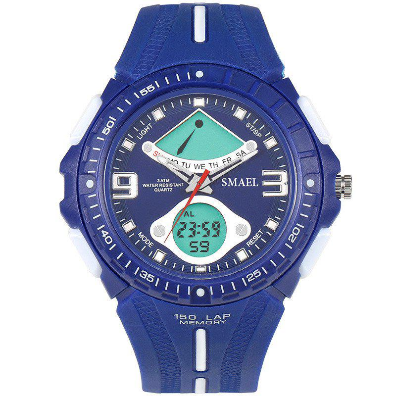 SMAEL 1315 Fashion Multi-function Electronic Sport LED Watch - BLUE