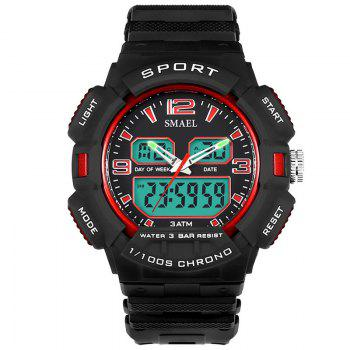 SMAEL 1343 Fashion Multi-function Waterproof LED Electronic Watch Outdoor Sport - RED RED
