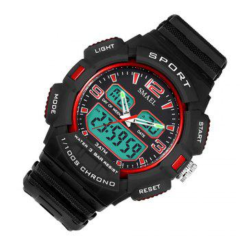 SMAEL 1343 Fashion Multi-function Waterproof LED Electronic Watch Outdoor Sport - RED