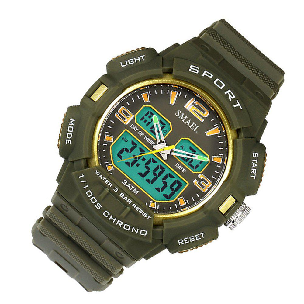 SMAEL 1343 Fashion Multi-function Waterproof LED Electronic Watch Outdoor Sport - GREEN