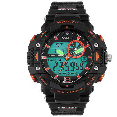 SMAEL SL1379 Multi-Function Waterproof Sport LED Watch - ORANGE