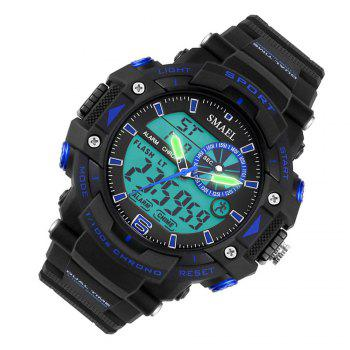 SMAEL SL1379 Multi-Function Waterproof Sport LED Watch -  BLACK/BLUE