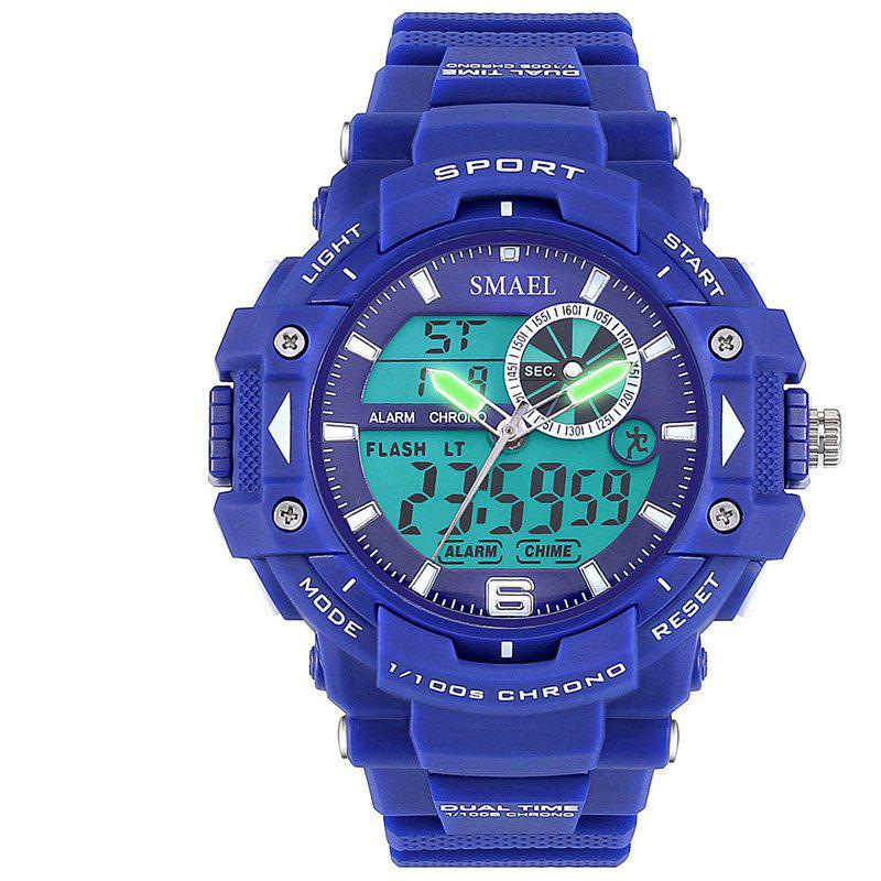 SMAEL SL1379 Multi-Function Waterproof Sport LED Watch - BLUE