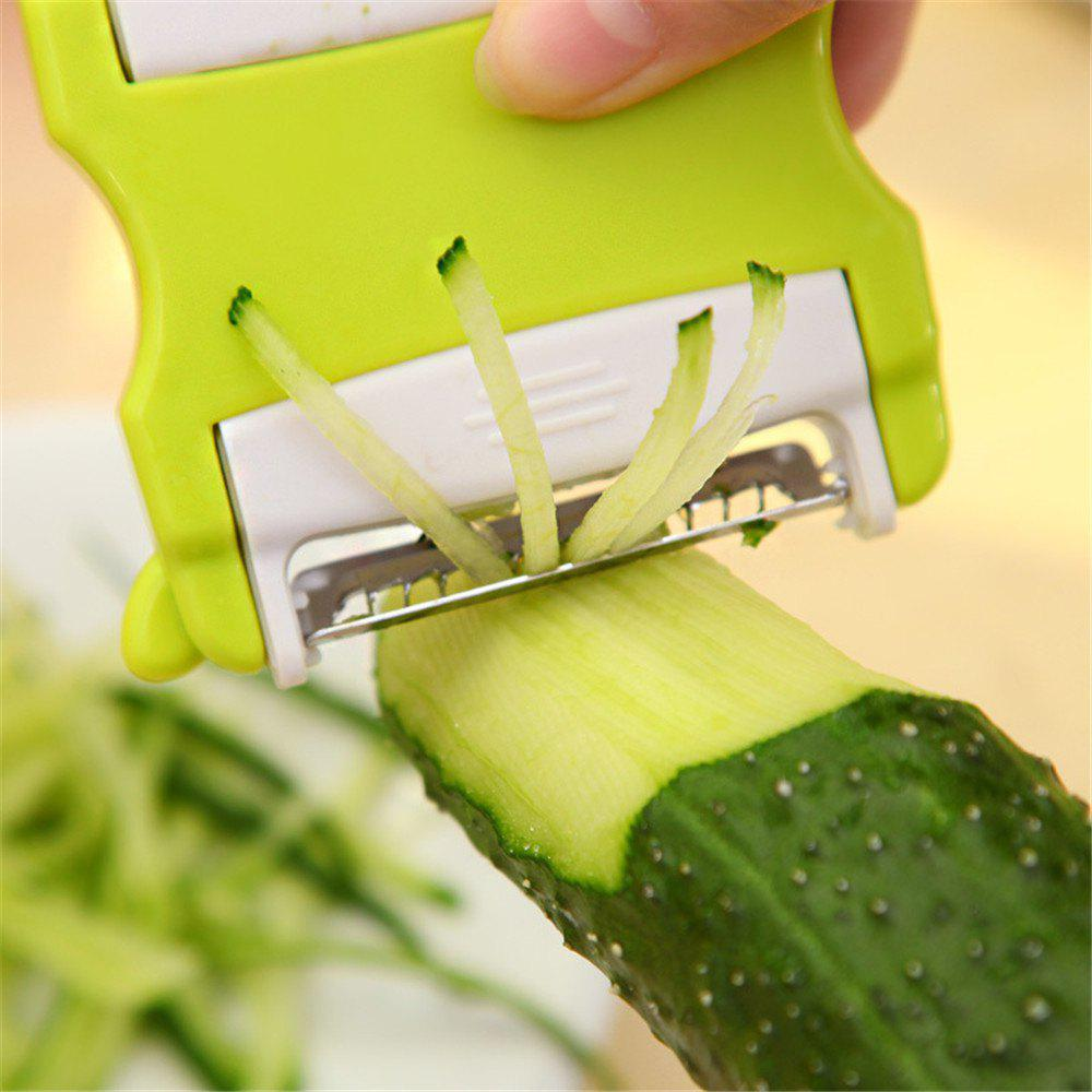 Vegetable Grater Carrot Cucumber Potato Salad Graters Multifunction Peeler for Kitchen Cooking Tools - GREEN