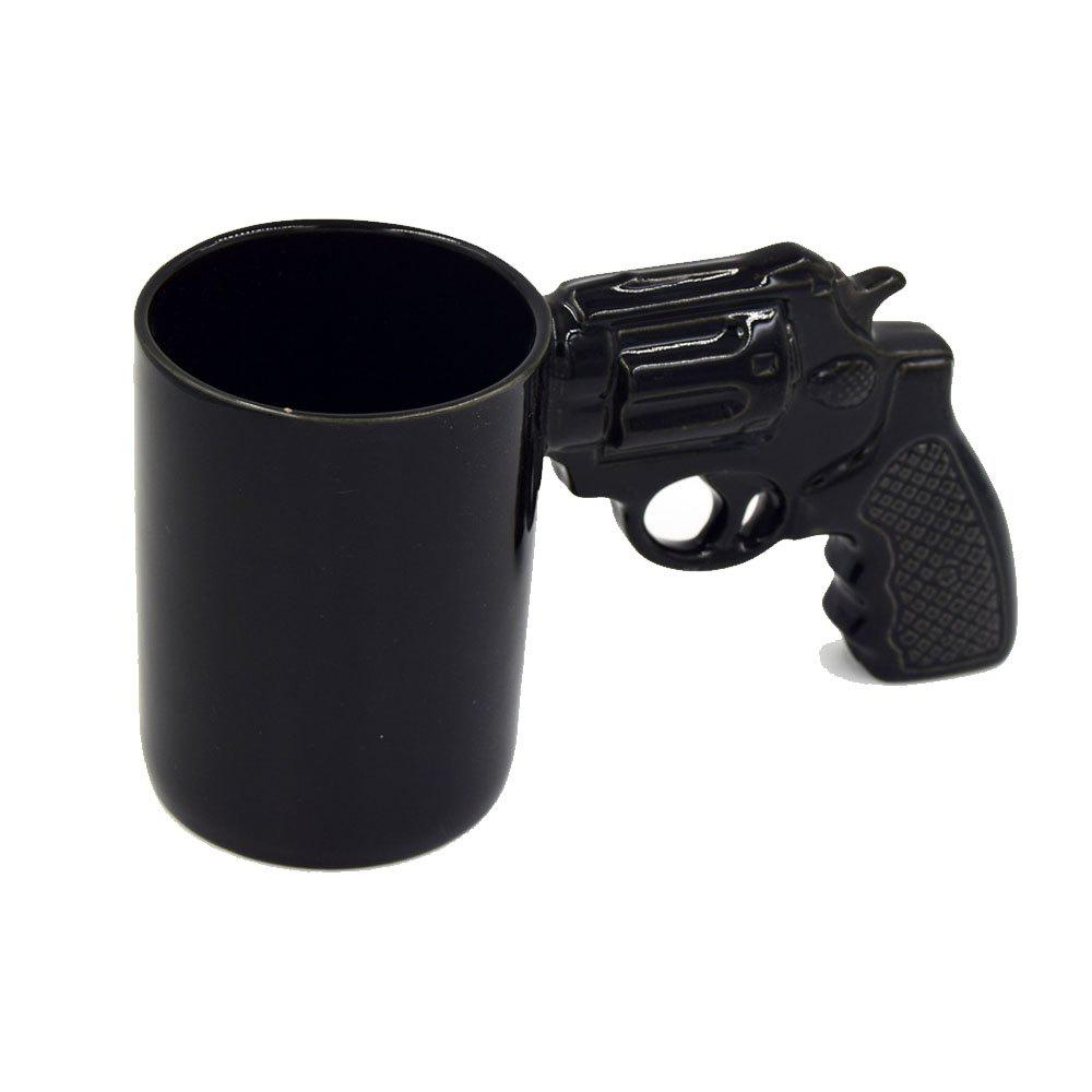 Creative Revolver Milk Coffee Mug - BLACK