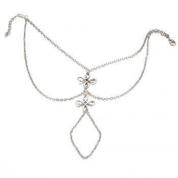 Ladies Fashion Mittens Beach Anklets - SILVER SILVER
