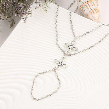 Ladies Fashion Mittens Beach Anklets - SILVER