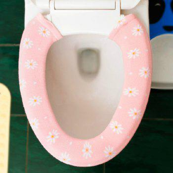A Button Toilet Seat in Winter To Warm Universal Sitting Toilet Cover - PAPAYA 15X76CM