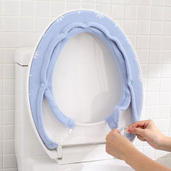 A Button Toilet Seat in Winter To Warm Universal Sitting Toilet Cover - WINDSOR BLUE 15X76CM