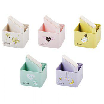 Creative Cute Sticky Pen Cartridge Multi-Function Desktop Receiving Box - WHITE WHITE