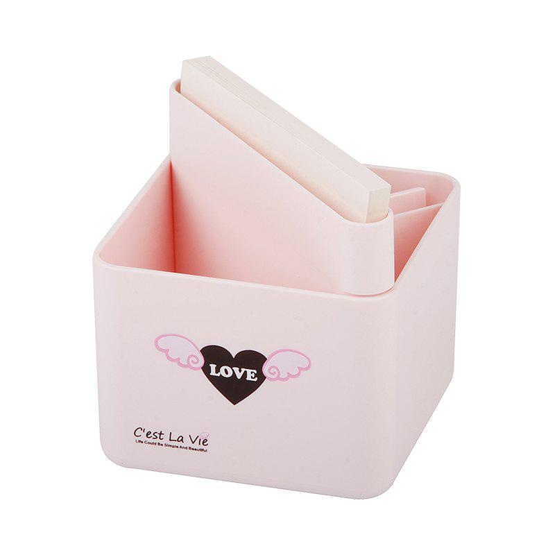 Creative Cute Sticky Pen Cartridge Multi-Function Desktop Receiving Box - PINK 9.5X9.5X10CM