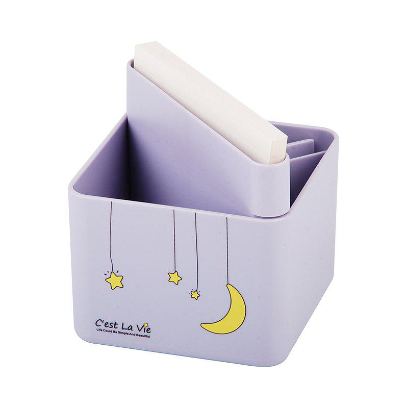 Creative Cute Sticky Pen Cartridge Multi-Function Desktop Receiving Box - DAHLIA 9.5X9.5X10CM
