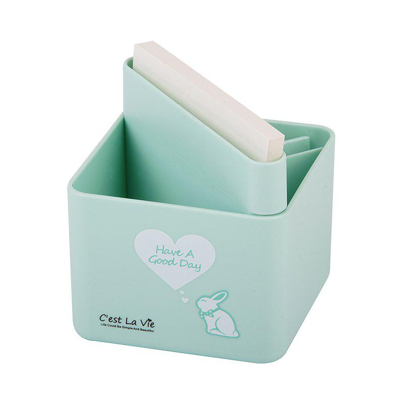 Creative Cute Sticky Pen Cartridge Multi-Function Desktop Receiving Box - BLUE 9.5X9.5X10CM
