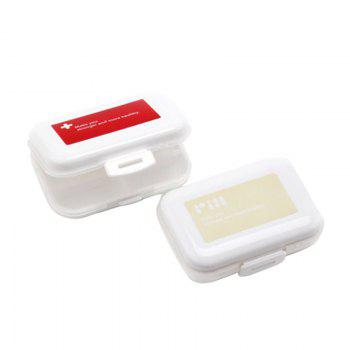 A Portable Medicine Box, A Portable Medicine Box, A Weekly Travel Pill Box - KHAKI 11X8X3CM