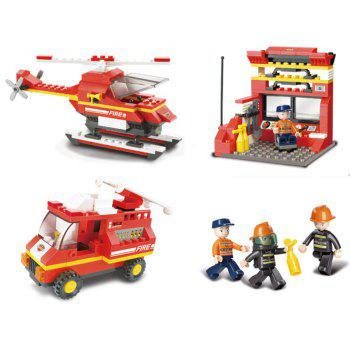 Sluban Building Blocks Educational Kids Toy Fire Police Station 371PCS - RED
