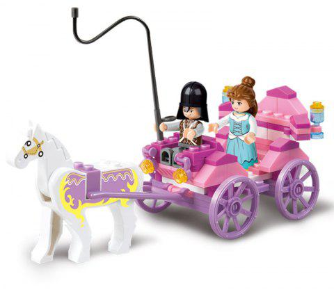 Sluban Building Blocks Educational Kids Toy The Princess Carriage of Friends 99PCS - PINK