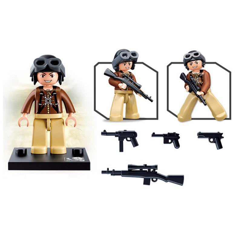 Sluban Building Blocks Educational Kids Toy Army Set 1PC - YELLOWM