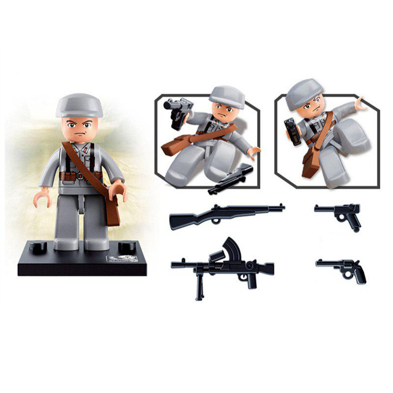 Sluban Building Blocks Educational Kids Toy Army Set 1PC - GREY