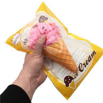 Funny Squishy Toy Made By Enviromental PU Material Replica Big Ice Cream for Different Age Group - PINK