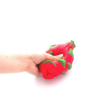 Funny Squishy Toy Made By Enviromental PU Material Replica Pitaya for Different Age Group - RED