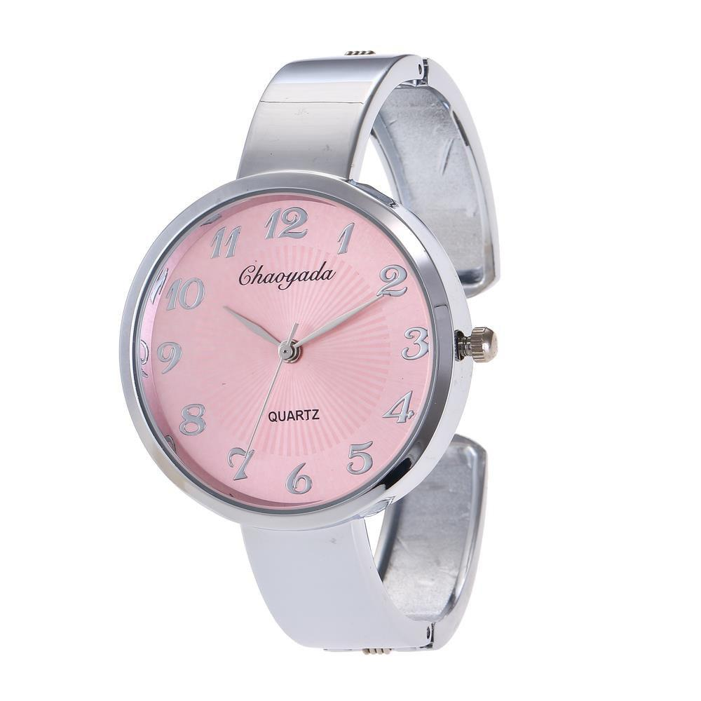 Chaoyada 8004 Casual Quartz Wristlet Watch for Women - PINK